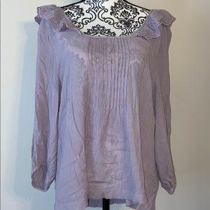 Lavender low back long sleeve